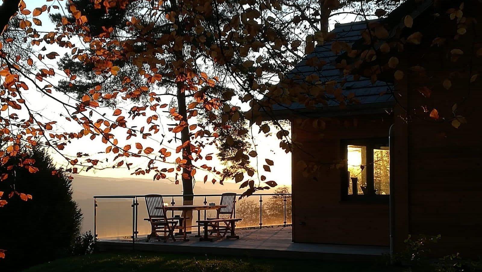 Terrasse sud en automne