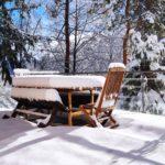 Le Chalet du Haut du Bout vue terrasse hiver
