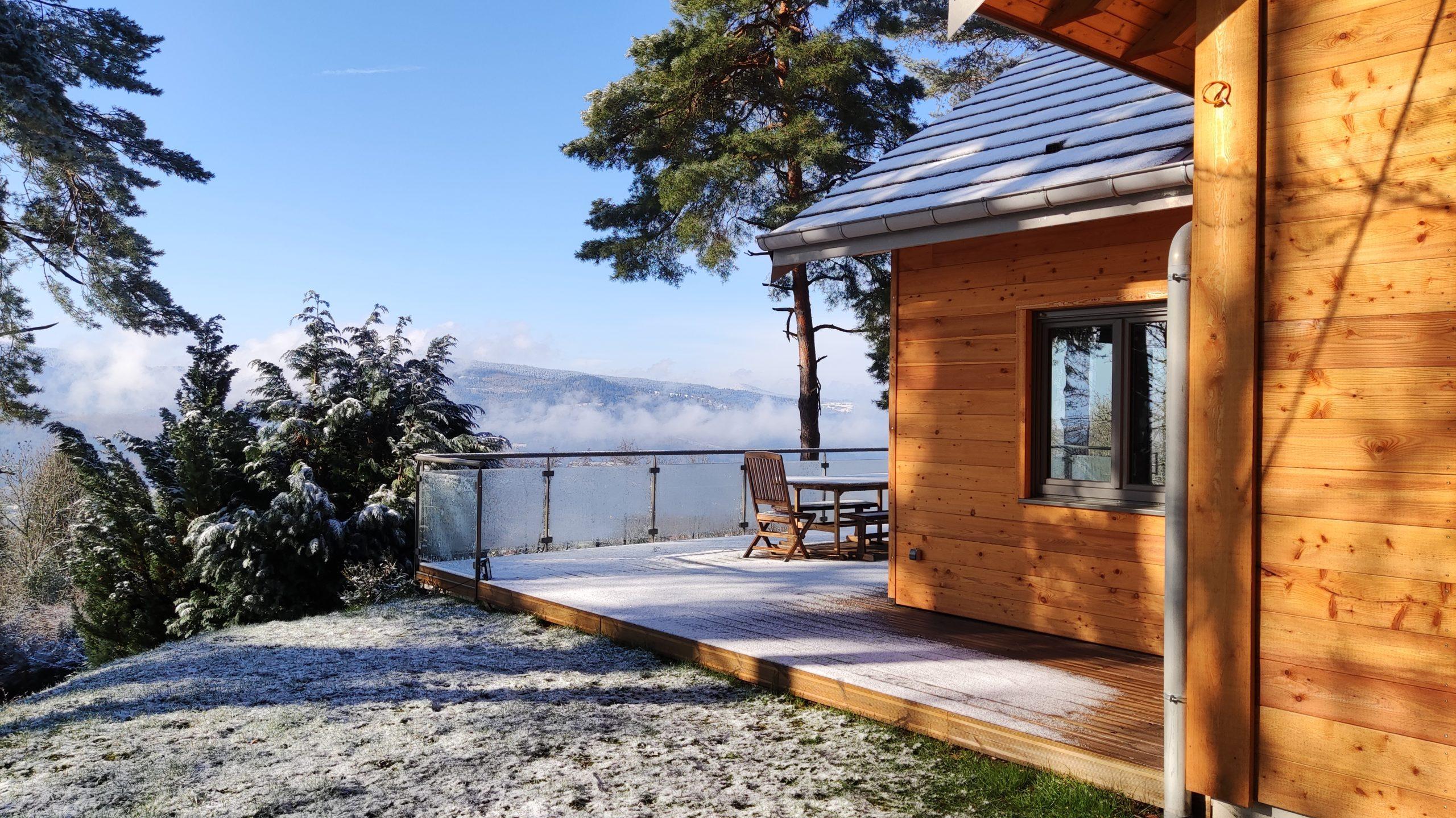 Terrasse sud  fin hiver