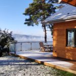 Le Chalet du Haut du Bout vue terrasse hiver 2